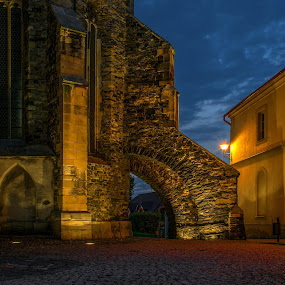 Night at the church by Jiří Valíček - Buildings & Architecture Public & Historical ( nigh, church, st. peter and paul,  )