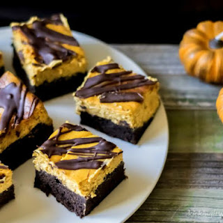 Double Chocolate Chip Pumpkin Cheesecake Brownies