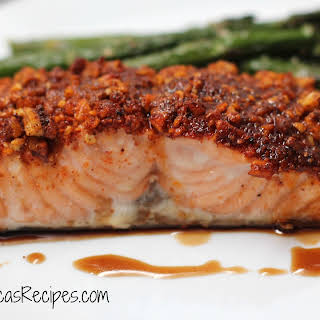 Pecan-Crusted Maple Salmon.