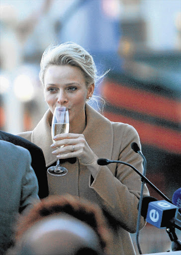 ENTHRALLED: Princess Charlene at the Polaris project presentation this week Picture: MICHELLY RALL/WIREIMAGE