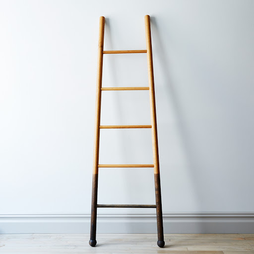 Solid Oak Oxidized Decor Ladder