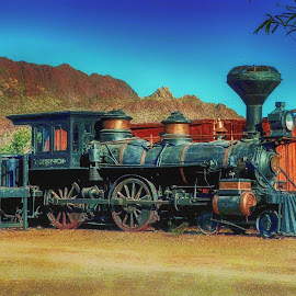 Old Tucson Locamotive by Dave Walters - Transportation Trains ( locamotive, lumix fz200, colors, train, transportation,  )