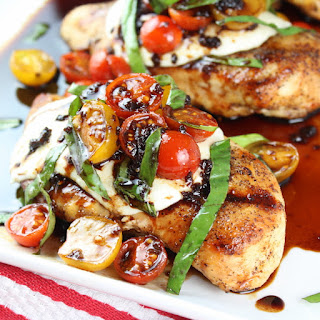 Grilled Chicken Caprese Recipe with Balsamic Sauce.