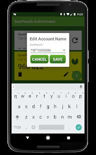 SurePassID Authenticator - náhled
