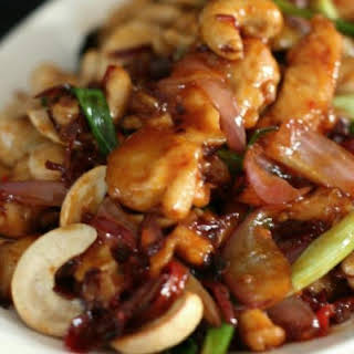 Stir-Fried Chicken With Cashew Nuts.