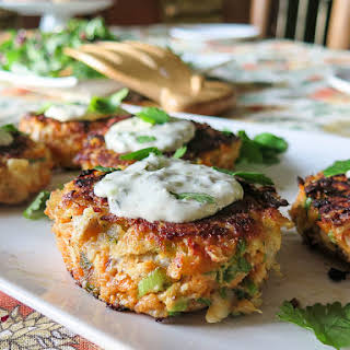 Fish and Chips Cakes with Lime Tartar Sauce.