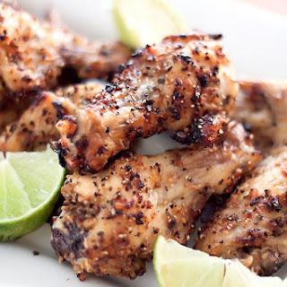 3-ingredient Baked Lemon Pepper Chicken Wings.