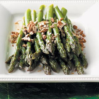 Fresh Asparagus with Pecans.