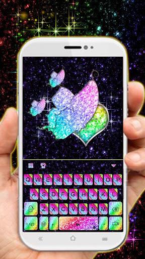 Sparkle Rainbow Keyboard Theme ss1