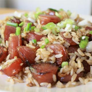 Stir-Fried Rice with Chinese Sausage Recipe