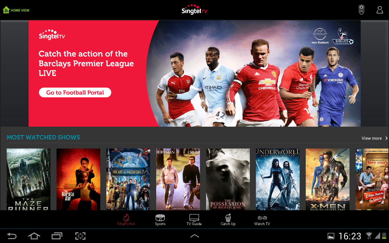 Singtel TV GO- screenshot