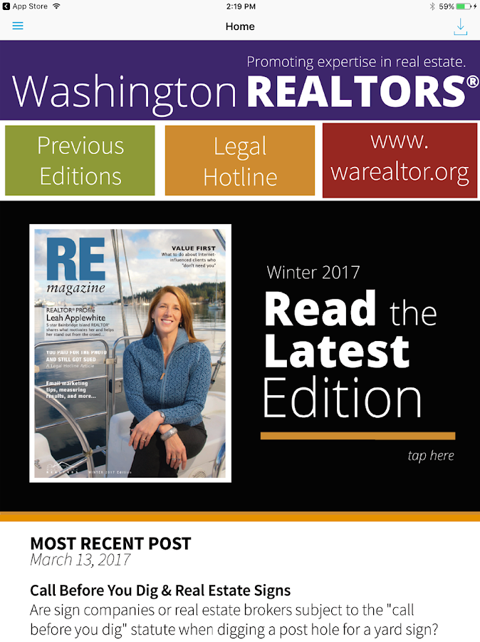 Washington Realtors- screenshot