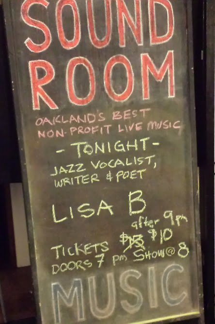The Sound Room uptown Oakland showcasing Lisa B (Lisa Bernstein)