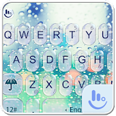 Glass Water Droplets Keyboard Theme