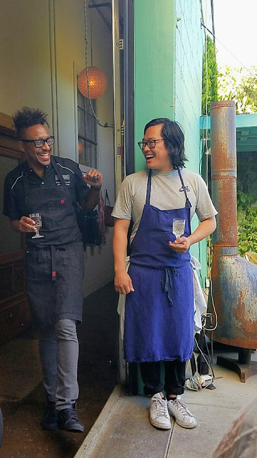 Chefs Week PDX Heritage dinner 2017, at Han Oak, Gregory Gourdet and Peter Cho