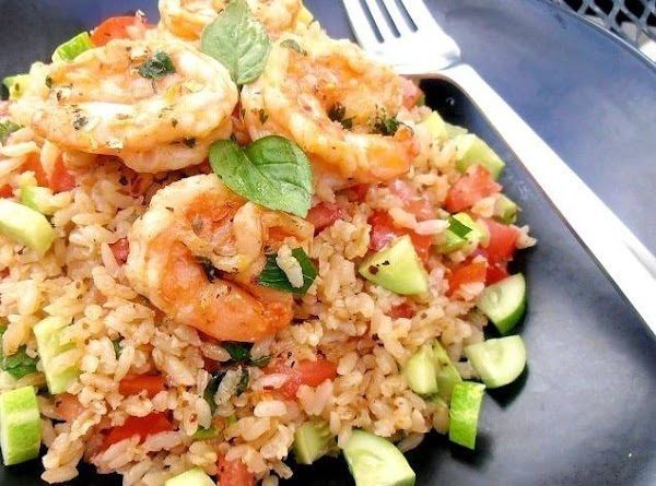 Mediterranean Shrimp & Rice Salad Recipe