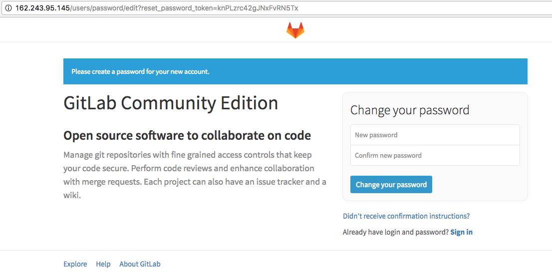 Gitlab Fresh Install