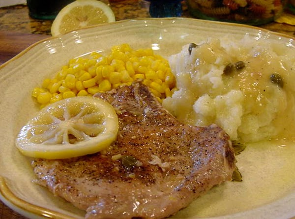 Troy's Pork Chops With Capers Recipe