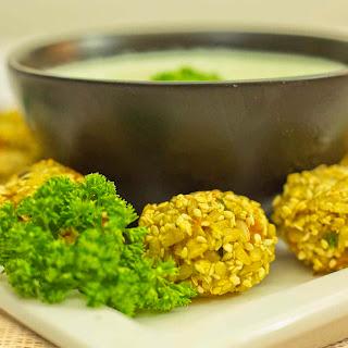 Turmeric Veggie Rice Balls with Sesame Seeds Recipe