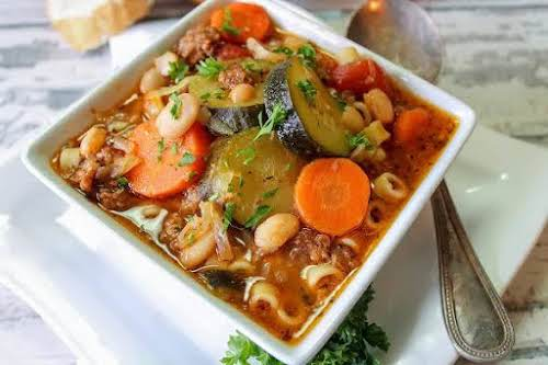 "Heirloom Minestrone Soup ""This is a wonderful soup recipe. I have been..."