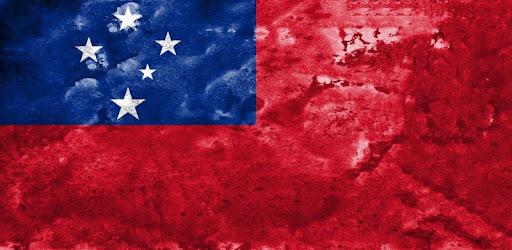 Samoa Flag Wallpaper