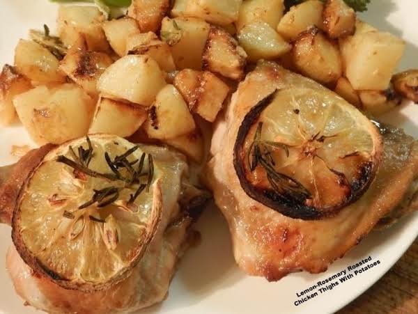Lemon-rosemary Roasted Chicken Thighs W/ Potatoes Recipe