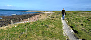 The writer walks the   coastal trail to Duncansby Head in northern Scotland.