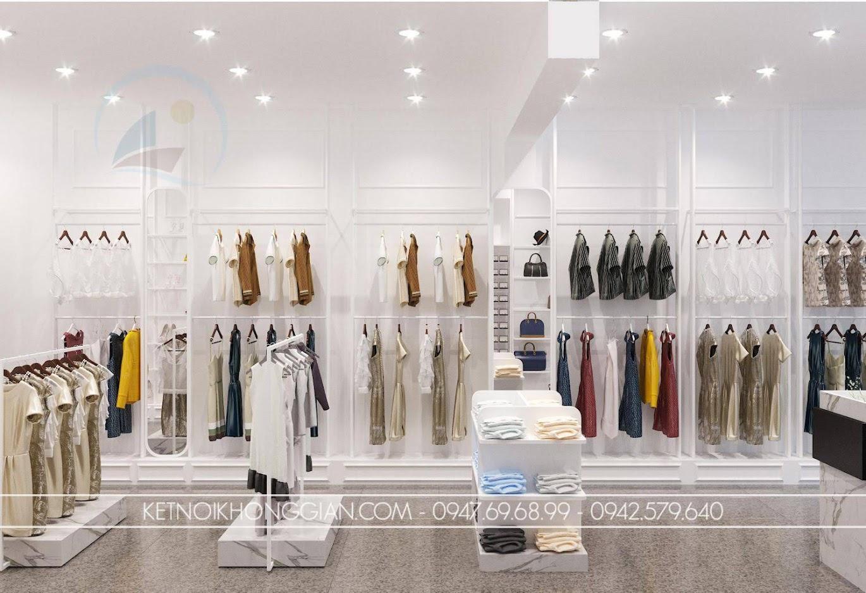 giá treo quần áo treo tường cho shop thời trang