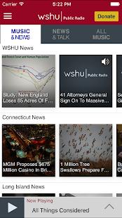 WSHU Public Radio App - náhled