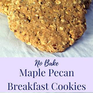No Bake Maple Pecan Breakfast Cookies.
