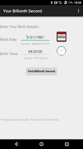 Your Billionth Second