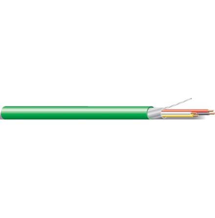 KNX Kabel 2x2x0,8 Grön Löpmeter