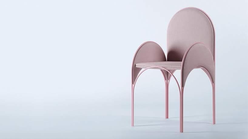 Esta colección de muebles ligeros están inspirados en los arcos de la arquitectura Libanesa