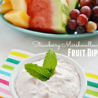 Strawberry Marshmallow Fruit Dip.