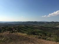 La Maremma Toscana, vista panoramica da Podere Santa Pia
