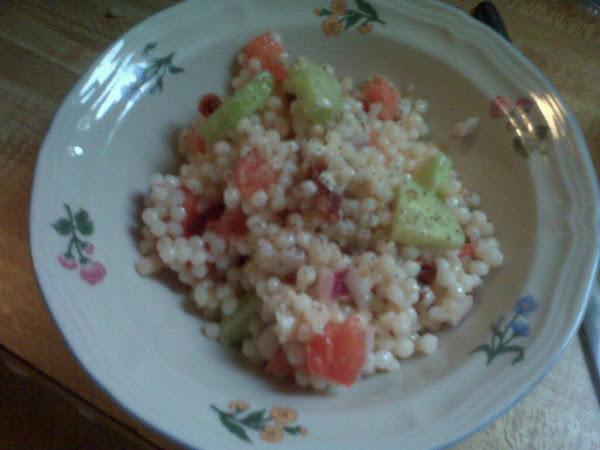 Israeli Cous Cous Pasta Salad Recipe