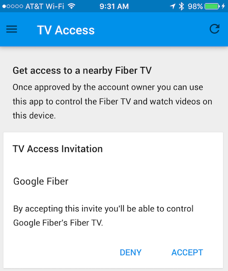 Accept an invitation to access a fiber tv google fiber help you should see the invitation stopboris Image collections