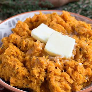 Roasted Mashed Sweet Potatoes.