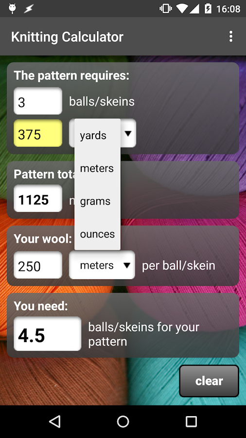 Knitting Pattern Calculator : Knitting Calculator - Android Apps on Google Play