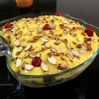 Fruit Custard Trifle Pudding Recipe