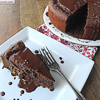 Clean Eating Chocolate Chip Cookie Dough Chocolate Cake.
