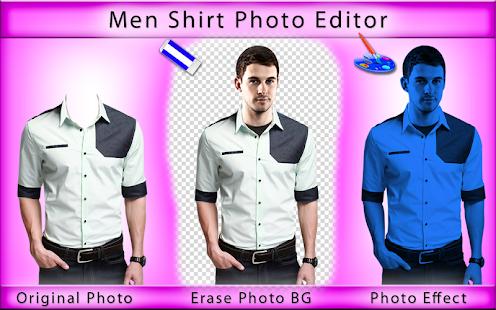 Men Shirt Photo Editor - Man Shirt Photo Suit - náhled