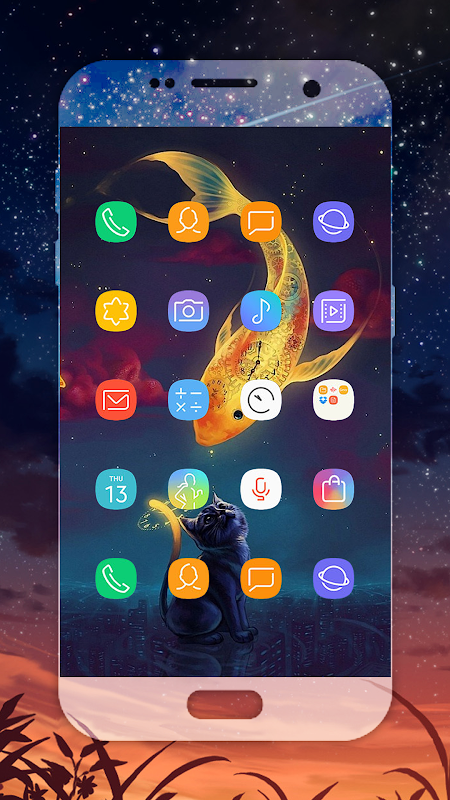 Download S9 launcher , Samsung Galaxy S9 Icon pack APK