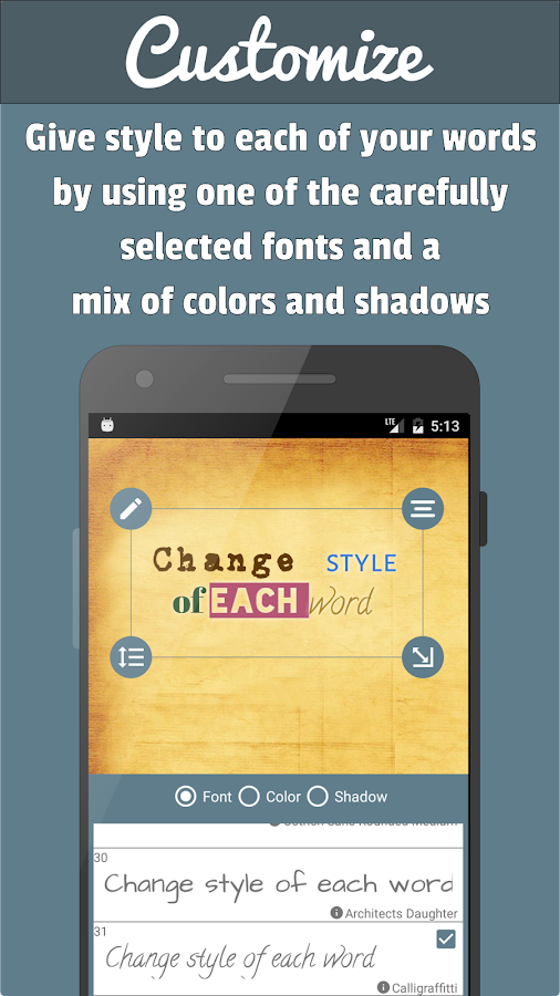 PostMaker: put text on photos- screenshot