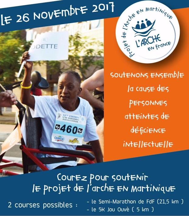 Le Projet de L'Arche en Martinique vous donne RV au Semi-marathon de Fort de France 2017 !