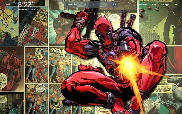 Deadpool Wallpapers Theme New Tab