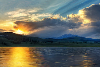 Photo: Yellowstone on Fire - a painting...a study  Here's another idea I worked on... I'm still just experimenting. Regulars may know that I really love looking at paintings; it is one of my biggest influences. I do not, however, consider myself a painter... I just experiment and try things with light and the shape of light. Anyway, if you want to know more about this or see detail, I wrote a bit about it when it was created, along with some detail shots: http://goo.gl/HNC6e