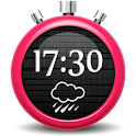 Dark Clock Weather Widget icon