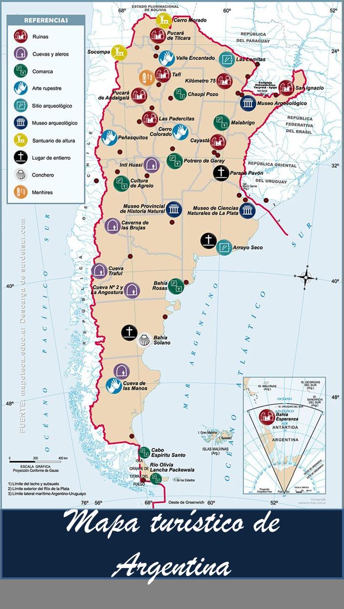 Mapa Turistico De Argentina Turismo En Argentina