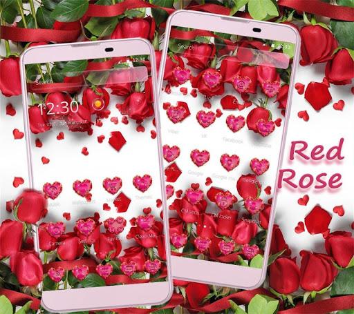 Red Rose Theme Wallpaper Red Roses Lock Screen 1.1.7 screenshots 2